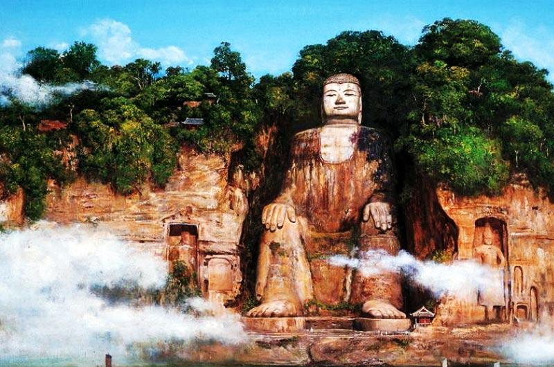 Grand Bouddha des falaises de Leshan, Chine