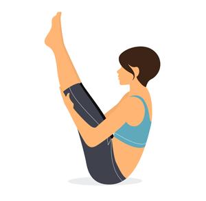 posture du bateau yoga