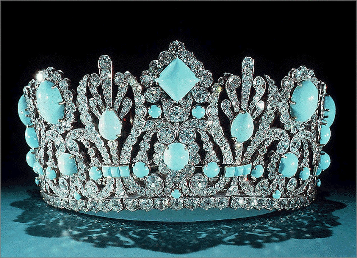 tiare royale turquoise