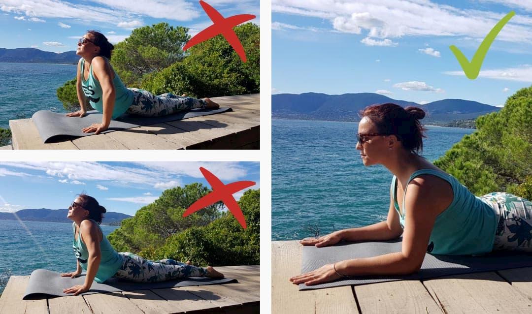 posture de yoga débutant